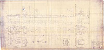 General Arrangement for AMOCO WISCONSIN [nee SEUBERT, EDWARD G. (1930)]