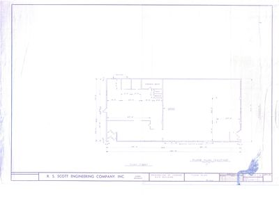 Floor Plan of Existing Layout for Remodeling of Foriner A&P Building on NS Corner