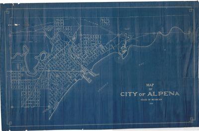 Map of City of Alpena 1925