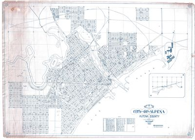 Map of the City of Alpena, Alpena County, Michigan 1925
