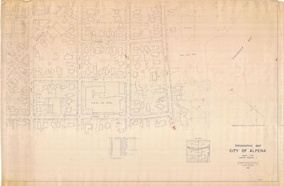 Topographic Map of the City of Alpena 1961