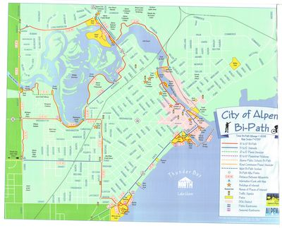 City of Alpena Bi-Path Map, 2005