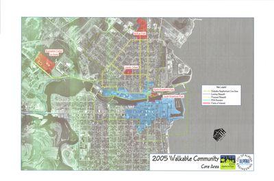 2005 Walkable Community - Core Area Map, City of Alpena