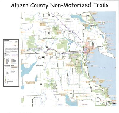Alpena County Non-motorized Trails Map