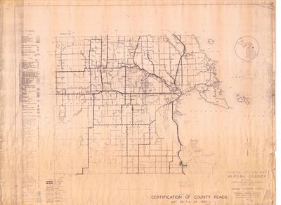 General Highway Map of Alpena County (1940)