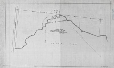 Sketch Showing Present Shoreline in FRL. Section 10 - T30   N R8 E (1947)