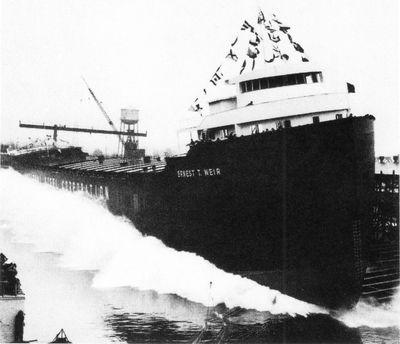 ERNEST T. WEIR (1953, Bulk Freighter)