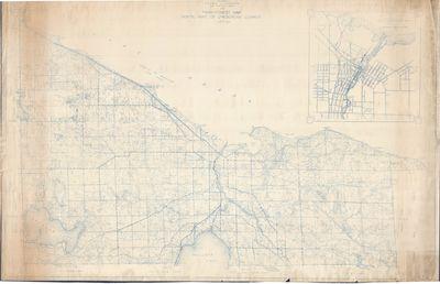 Farm-Forest Map North Part of Cheboygan County, Michigan (1932)