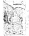 Outline Map of Cheboygan County, Michigan (1902)