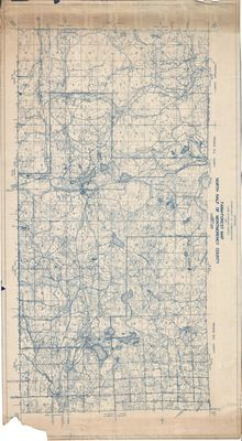 Farm-Forest Map of North Half of Montmorency County, Michigan (1930)