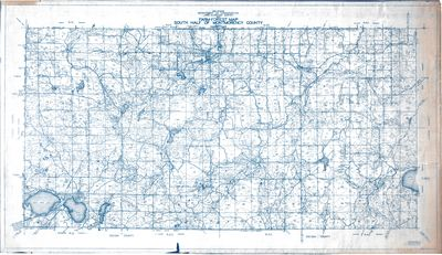 Farm-Forest Map of South Half of Montmorency County, Michigan (1930)