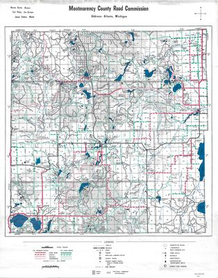 Montmorency County Road Commission Map (1967)