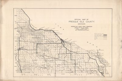 Official Map of Presque Isle County, MI