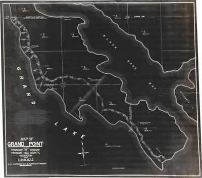 Map of Grand Point in the Township of Krakow Presque Isle County, Mich (1946)