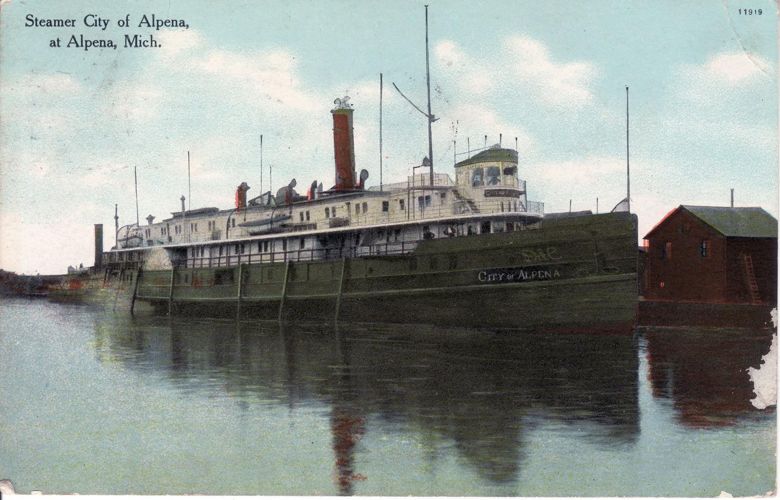 310 Steamer CITY OF ALPENA