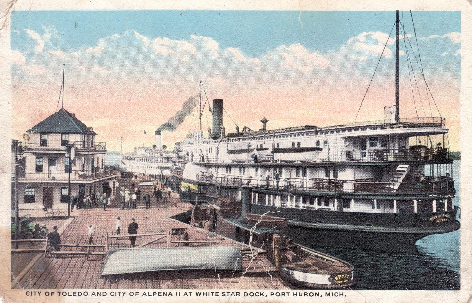 311 Steamers CITY OF TOLEDO and CITY OF ALPENA II
