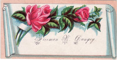 Calling Card for Freeman W. Dungey