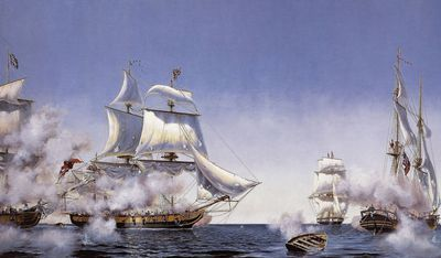 Battle Of Lake Erie from the British Line