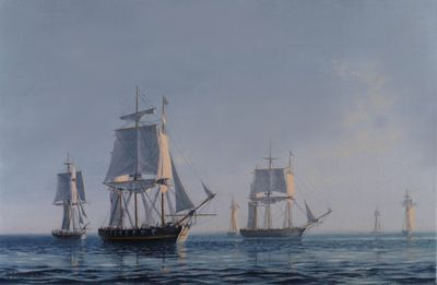 Dawn at British squadron, September 10,  1813