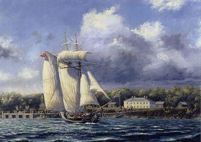 HMS Nancy Off Moy Hall, 1812