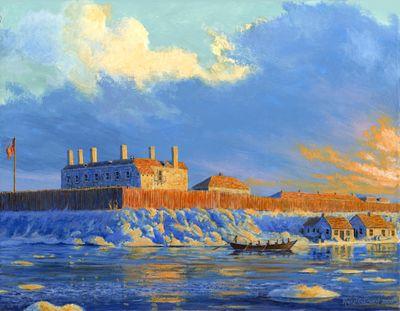 Winter at Fort Niagara, 1812