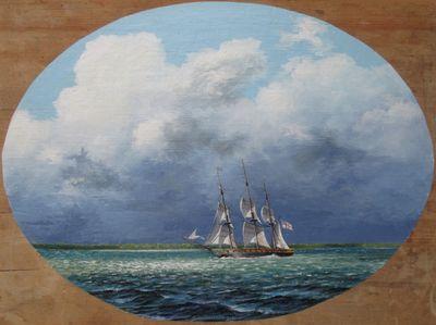 General Brock aboard Queen Charlotte off Kingsville