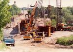 Construction of Wellington St. bridge, Bracebridge