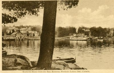 Monteith House from the Bay, Rosseau, Muskoka Lakes Ont. Canada