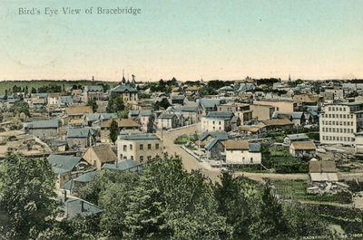 Bird's Eye View of Bracebridge - Bracebridge June 1908