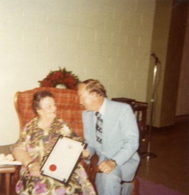 Rene Caisse with Premier Frank Miller