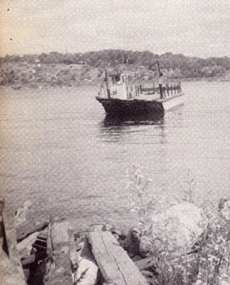 Ferry on the Magnetawan River, circa 1923.