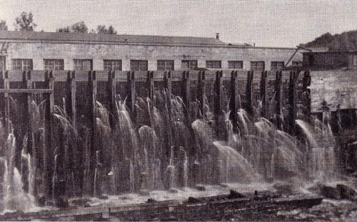 Dam with Many Leaks, Burk's Falls, circa 1921