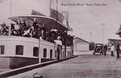 Magnetawan Wharf, Burk's Falls, Ontario, circa 1925