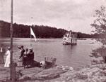 People on Dock, Greeting The Wanita, circa 1904