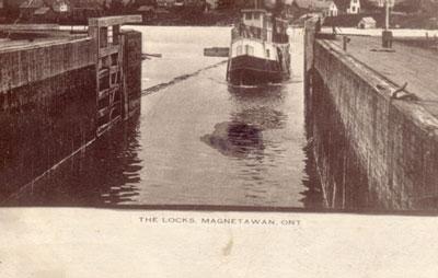 The Magnetawan Locks, circa 1906