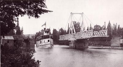 The Armour Passing Through Swing Bridge at Midlothian Road, circa 1919