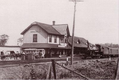 Burk's Falls Train Station, circa 1900