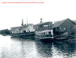 The Steamers Wanita and Wenonah at Dock, circa 1900