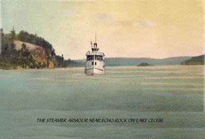 The Steamer Armour Near Echo Rock, Lake Cecebe, circa 1920