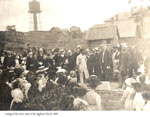 Laying of the Corner Stone of the Anglican Church, Burk's Falls, 1909.