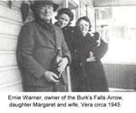 Ernie, Margaret, and Vera Warner, circa 1945