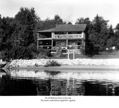 The Old Mahoney House on Doe Lake, circa 1940.