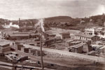Lumberyard Across from the Burk's Falls Wharf, circa 1920