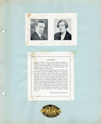 Tweedsmuir Village Histories: Chalmers Women's Institute