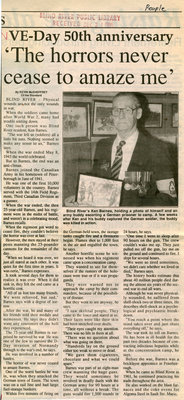 VE Day 50th Anniversary, Blind River, The Standard, 1995