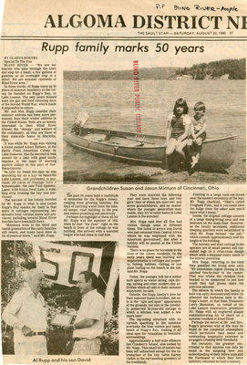 Rupp Family Marks 50 years, Blind River, 1980