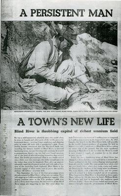 A Persistent Man, A Town's New Life, Blind River, Life Magazine, Vol. 39, No.5, 1955