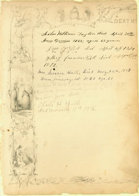 Bell Family Bible, Deaths, 1862-1916
