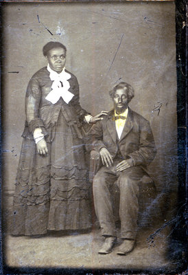 Tintype Portrait of African American Couple [n.d.]