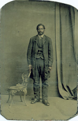 Tintype of African American Man with Mustache [n.d.]